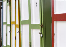 Colored bathing huts Royalty Free Stock Photography