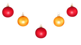Colored baubles Royalty Free Stock Photos