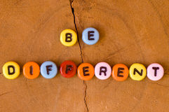 Colored be different Royalty Free Stock Photo