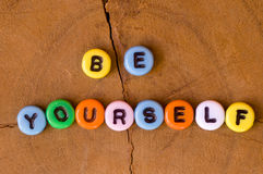 Colored be yourself Royalty Free Stock Image