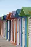Colored Beach Huts royalty free stock photo