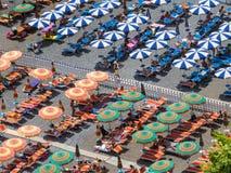 Colored beach umbrellas Royalty Free Stock Image