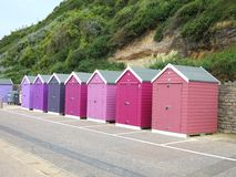 Colored beachhouses Stock Images