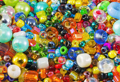 Colored beads. Background of different colored beads Stock Images