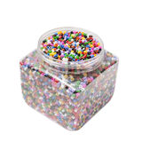 Colored beads. In a box Stock Photo