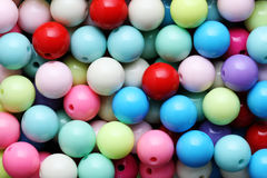 Colored beads close-up. Royalty Free Stock Photos