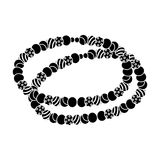 Colored beads.Hippy single icon in black style vector symbol stock illustration web. Royalty Free Stock Photography