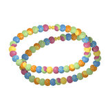 Colored beads.Hippy single icon in cartoon style rater,bitmap symbol stock illustration web. Stock Photography