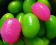 Colored Beans. Colored Jelly Bean Background Stock Photography