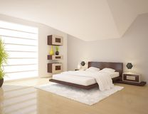 Colored bedroom Stock Image