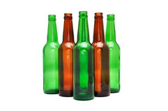 Colored beer bottles Royalty Free Stock Image