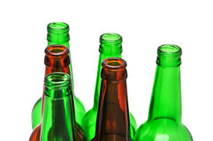 Colored beer bottles Stock Photo