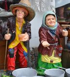 Colored beggars pottery Royalty Free Stock Photo