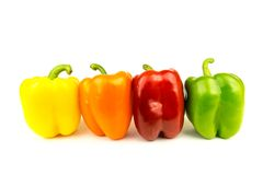 Colored Bell Peppers Royalty Free Stock Images