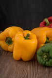 Colored bell peppers Stock Photo