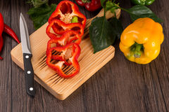 Colored bell peppers Royalty Free Stock Photos