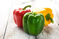 Colored bell peppers Royalty Free Stock Photo