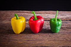 Colored bell peppers Stock Images