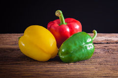 Colored bell peppers Stock Photos