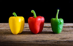Colored bell peppers Royalty Free Stock Image