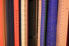 Colored belts Stock Photography