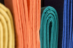 Colored belts Royalty Free Stock Photo
