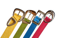 Colored Belts Set Royalty Free Stock Images