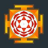 Colored Bhuvaneshwari yantra illustration Stock Photo