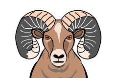 Colored Bighorn sheep Royalty Free Stock Photography