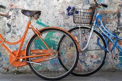 Colored bikes Royalty Free Stock Photography