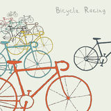 Colored bikes Royalty Free Stock Photos