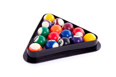 Colored billiard balls Stock Photo