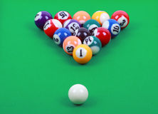 Colored billiard balls Stock Photography