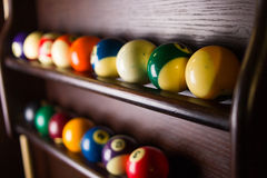 Colored billiard balls Stock Photography