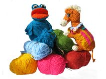 Colored binded toys Stock Images