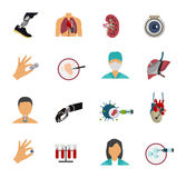 Colored Bioengineering Icon Set Stock Image