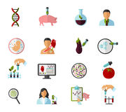 Colored Biotechnology Icon Set Stock Image