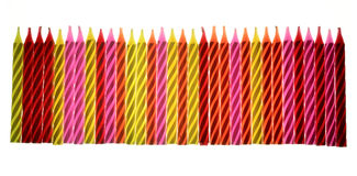 Colored birthday candles Stock Photography