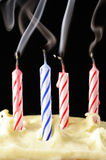Colored birthday candles Royalty Free Stock Image