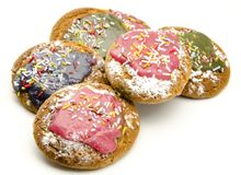 Colored biscuits Royalty Free Stock Photos