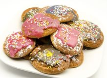 Colored biscuits Stock Photography