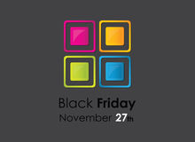 Colored black friday background Royalty Free Stock Photography