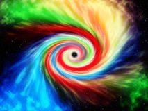 Colored black hole Royalty Free Stock Images