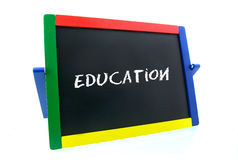 Colored blackboard. Isolated on white background royalty free stock images