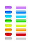 Colored blank buttons Royalty Free Stock Images