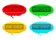 Colored blobs big sale. Colored blobs of wax with stamp big sale Stock Photography