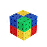 Colored Block Cube. White background Stock Image