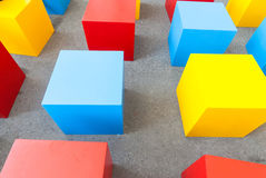 Colored block cubes Stock Photo