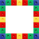 Colored Block Square Frame. White Background Stock Image
