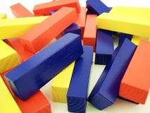 Colored Blocks 1. A pile of colored blocks royalty free stock photography